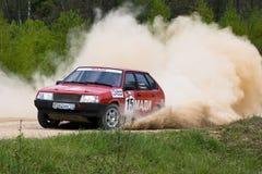 Sergey Petrov auf Lada Stockbilder
