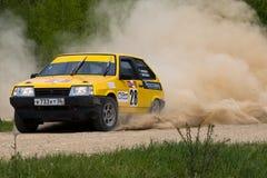 Sergey Petrov auf Lada an der russischen Sammlung Lizenzfreies Stockfoto