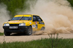 Sergey Petrov on Lada at Russian rally Royalty Free Stock Photo