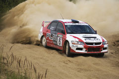Sergey Petrov at russian rally c Royalty Free Stock Photos
