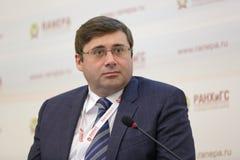 Sergey Shvetsov. MOSCOW, RUSSIA - JAN 13, 2017: Sergey Anatolyevich Shvetsov, a Russian economist, first Deputy Chairman, Bank of Russia at the Gaidar Forum 2017 Stock Images
