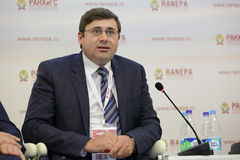 Sergey Shvetsov. MOSCOW, RUSSIA - JAN 13, 2017: Sergey Anatolyevich Shvetsov, a Russian economist, first Deputy Chairman, Bank of Russia at the Gaidar Forum 2017 Royalty Free Stock Image
