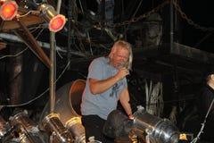 Sergey Skachkov am Konzert stockbild