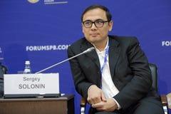 Sergey Solonin. SAINT-PETERSBURG, RUSSIA - JUN 18, 2016: St. Petersburg International Economic Forum SPIEF-2016. Sergey Solonin, Chief Executive Officer, Qiwi Stock Image