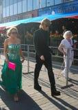 Sergey Zverev en el festival de película de Moscú imagen de archivo