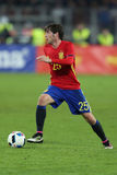 Sergi Roberto. Carnicer midfielder of the Spanish National Football Team, pictured during the friendly match between Romania and Spain, played at Cluj Arena royalty free stock photos