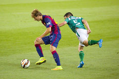 Sergi Samper del FC Barcelona Fotografía de archivo