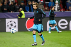Sergi Samper during the UEFA Champions League game between Bayer Royalty Free Stock Photos