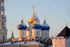 sergiev России зоны posad moscow lavra Стоковое Изображение