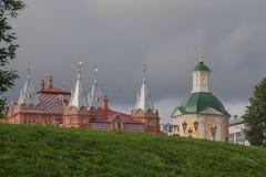 Sergiev Posad,俄罗斯 在Radonezh Sergius附近寺庙的疆土  图库摄影