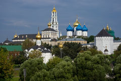 Sergiev Posad. One of the greatest Russian monasteries not far from Moscow stock photo