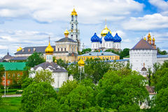 Sergiev Posad. One of the greatest of Russian monasteries not far from Moscow stock photography