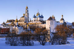Sergiev Posad monastery at winter stock photo