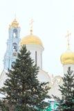 Sergiev Posad, Rússia: 10 de dezembro de 2016 Trindade-St santamente Sergius Lavra Imagens de Stock