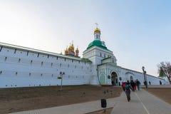 Sergiev Posad, Rússia - 28 de março de 2015 grande monastério da trindade em Sergiyev Posad perto de Moscou Anel dourado de uma R Fotos de Stock Royalty Free