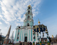 Sergiev Posad, Rusia - 28 de marzo de 2015 Campanario adentro fotografía de archivo libre de regalías