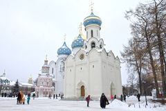 Sergiev Posad, Rusland: 10 december, 2016 Heilige drievuldigheid-St Sergius Lavra Royalty-vrije Stock Afbeelding