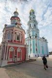 Sergiev Posad, Rusland - Maart 28, 2015 Klokketoren binnen Royalty-vrije Stock Foto's