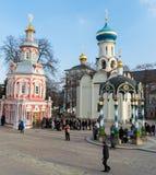 Sergiev Posad, 15 Rusland-MAART, 2012 Klooster Stock Foto's