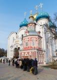 Sergiev Posad, 15 Rusland-MAART, 2012 Klooster Stock Foto