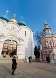 Sergiev Posad, 15 Rusland-MAART, 2012 Klooster Royalty-vrije Stock Afbeelding