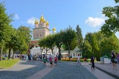 Sergiev Posad, Rusland - September 2, 2018: Heilige Drievuldigheid van St Sergius Lavra Kerk van de Geboorte van Christus van Joh stock fotografie