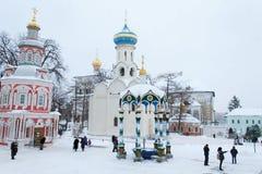 Sergiev Posad, Russia: 10 dicembre 2016 Trinità-st santa Sergius Lavra Immagini Stock Libere da Diritti
