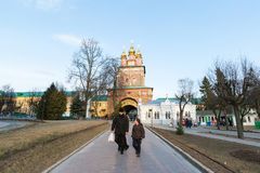 Sergiev Posad, RUSSIA-MARCH, 15, 2012 monastery Stockfotografie