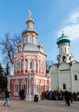 Sergiev Posad, RUSSIA-MARCH, 15, 2012 monastery Lizenzfreies Stockfoto