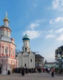 Sergiev Posad, RUSSIA-MARCH, 15, 2012 monastery Lizenzfreies Stockbild
