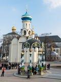 Sergiev Posad, RUSSIA-MARCH, 15, 2012 monastery Stockbilder