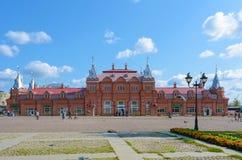 Sergiev Posad, Russie - 2 septembre 2018 : Centre de pèlerinage au St Sergius Lavra, centres commerciaux de trinité sainte de Kra image stock