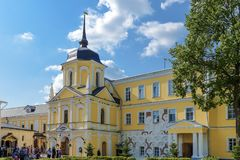 Sergiev Posad, Russia - September 2, 2018: Holy Trinity Of St. Sergius Lavra. Treasury housing fraternal kelly. In Sergiev Posad there is a monastery of the stock image