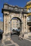 Sergii的曲拱-普拉-克罗地亚 库存照片