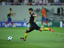 Sergio Aguero. Sergio Leonel Kun Aguero forward of Manchester City, pictured during the Uefa Champions League match against Steaua Bucharest. Manchester City won royalty free stock image