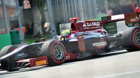 Sergio Canamasas участвуя в гонке в Сингапур GP2 2012 Стоковое Изображение