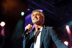 Sergio Dalma in concert Royalty Free Stock Photo