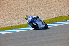 Sergio Gadea pilot of  125cc in the MOTOGP Stock Photo