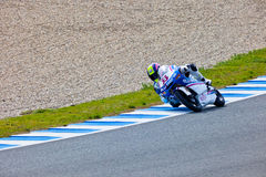 Sergio Gadea pilot of  125cc in the MOTOGP Royalty Free Stock Photography