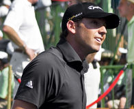 Sergio Garcia. Leaving the 18th looking up into the crowds. Sun City Gary Player Golf Course Stock Photos