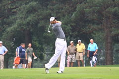 Sergio Garcia of Spain watches his ball Stock Images