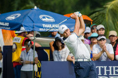 Sergio Garcia in Thailand Golf Championship 2015 Stock Photo
