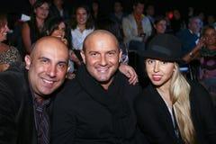 Sergio Helguera, David Salomon en Alana Savoir Stock Foto