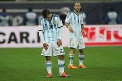 Sergio Kun Aguero enttäuschte Lizenzfreies Stockfoto