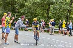 Sergio Мигель Moreira Paulinho взбираясь Alpe D'Huez Стоковое Фото