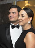 Sergio Moro and Rosangela Wolff Moro. Brazilian judge Sergio Moro arrives for the 2016 Time Magazine 100 Most Influential People in the World gala at the Time royalty free stock photography