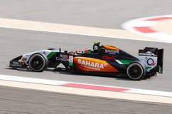 Sergio Perez av styrkaIndien-Mercedes att springa Royaltyfria Bilder