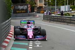 Sergio Perez in his Sport Pesa Racing Point RP19, Monaco