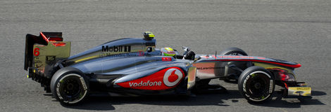 Sergio Perez McLaren. Sergio Perez in his McLaren in Belgium, Spa 2013 Royalty Free Stock Photography