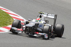 Sergio Perez of Sauber Royalty Free Stock Image